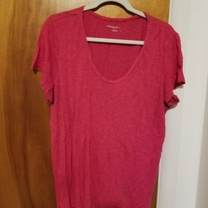 Halogen Hot Pink T Shirt Size XL
